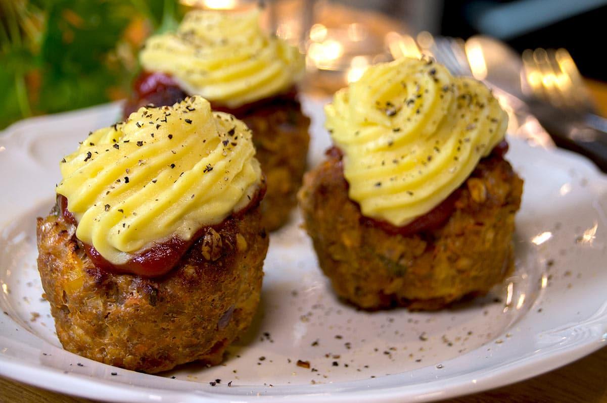 Pains de viande à la purée façon cupcakes (pour 6 pièces)